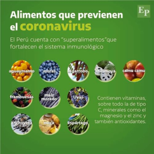 alimentos que previenen el coronavirus